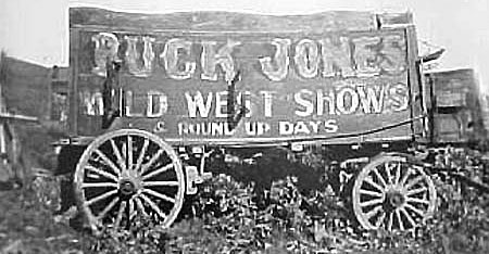 Buck Jones Wild West Shows and Round-Up Days wagon.