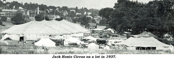 Jack Hoxie Circus on lot in 1937.