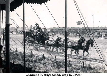 Diamond K stagecoach, May 2, 1936.