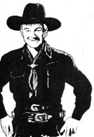 Art spot by Bobb Lynes of William Boyd as Hopalong Cassidy.
