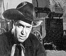 "James Stewart starred in ""The Six Shooter"" on radio."