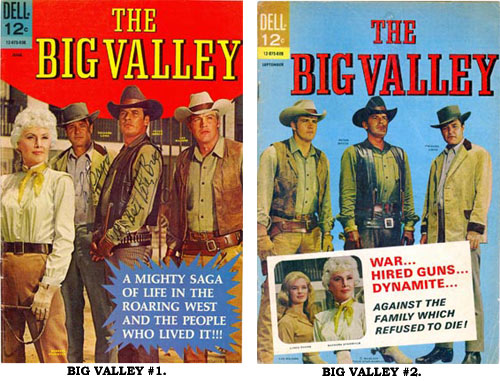 Covers to BIG VALLEY #1 and #2.