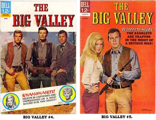 Covers to BIG VALLEY #4 and #5.