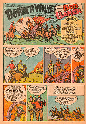 """Border Wolves"" ran in FUNNIES #25 (Oct. '38)."