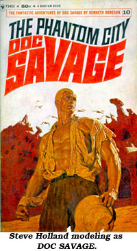 Steve Hollard modeling as DOC SAVAGE.