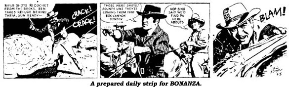 A prepared daily strip for BONANZA.