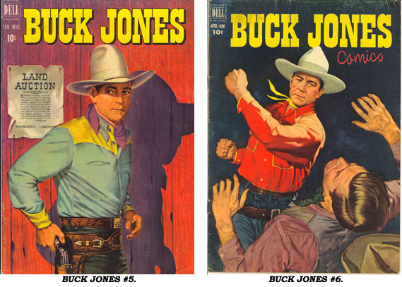Covers to BUCK JONES #5 and #6.