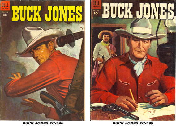 Covers to BUCK JONES FC546 & FC589.