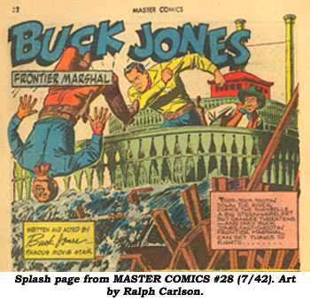 Splash page from MASTER COMICS #28 (7/2). Art by Ralph Carlson.