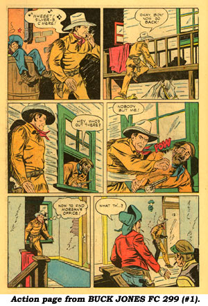Action page from BUCK JONES FC 299 (#1).