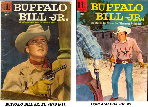 Covers to BUFFALO BILL JR. FC #673 (#1) and #7.