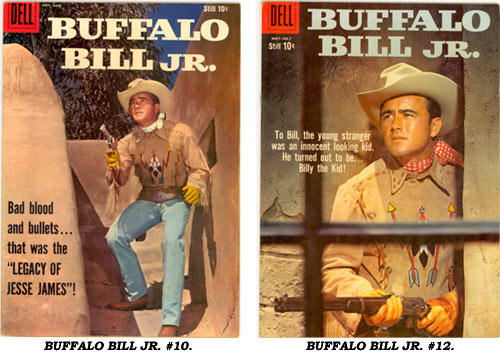 Covers to BUFFALO BILL JR. #10 and #12.