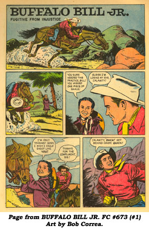 Page from BUFFALO BILL JR. FC #673 (#1). Art by Bob Correa.