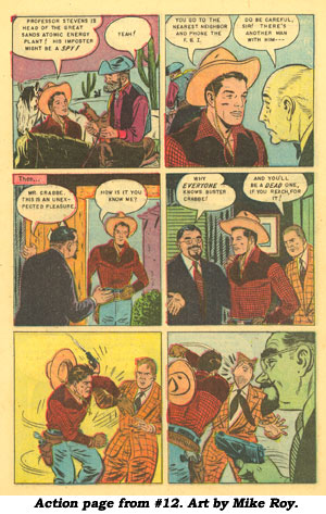 Action page from BUSTER CRABBE #12. Art by Mike Roy.
