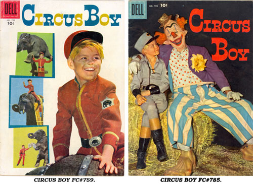 Covers to CIRCUS BOY FC#759 and FC#785.