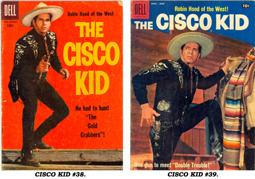 Covers to CISCO KID #38 and #39.