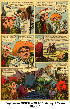 Page from CISCO KID #37. Art by Alberto Giolitti.