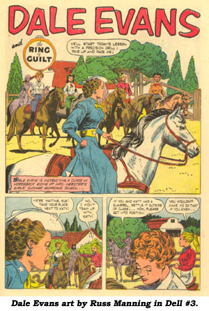 Dale Evans art by Russ Manning in Dell #3.