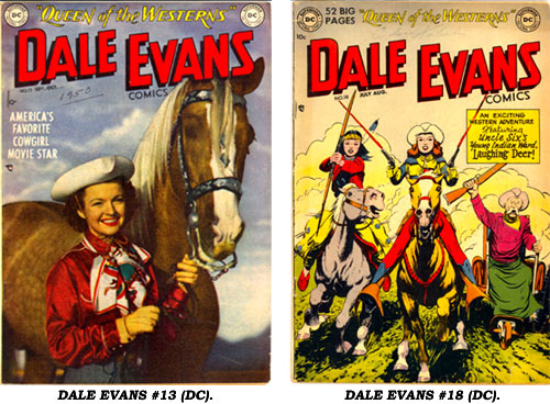 Covers to DC's  DALE EVANS COMICS #13 and #18.