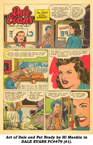 Art of Dale and Pat Brady by Hi Mankin in DALE EVANS FC#479 (#1).