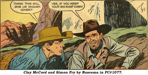 Clay McCord and Simon Fry by Buscema in FC#1077.