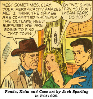 Fonda, Kein and Case art by Jack Sparling in FC#1225.