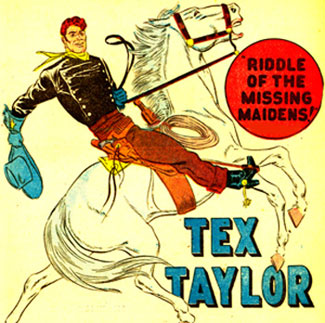 TEX TAYLOR splash page.