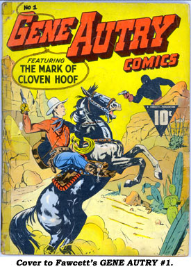 Cover to Fawcett's GENE AUTRY #1.