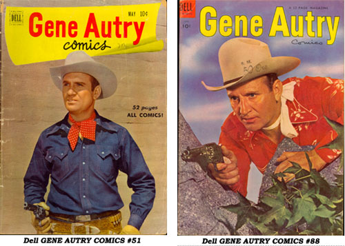 Covers to Dell GENE AUTRY COMICS #51 and #88.