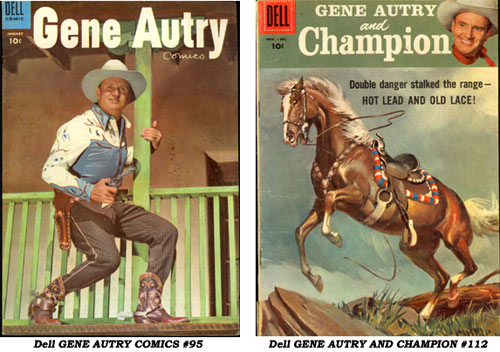 Covers to Dell GENE AUTRY COMICS #95 and GENE AUTRY AND CHAMPION #112.