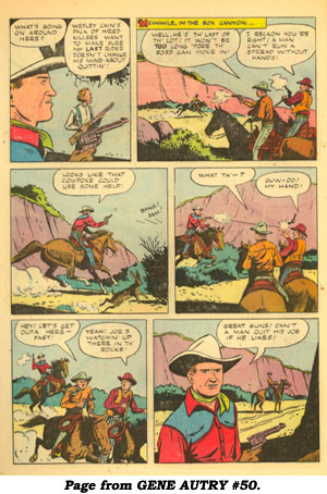 Page from GENE AUTRY #50.