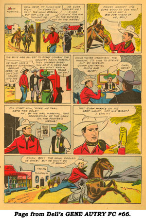 Page from Dell's GENE AUTRY FC #66.
