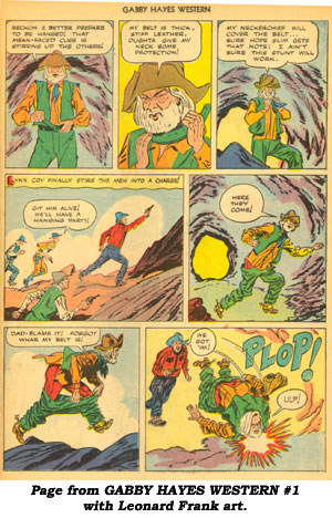 Page from GABBY HAYES WESTERN #1 with Leonard Frank art.