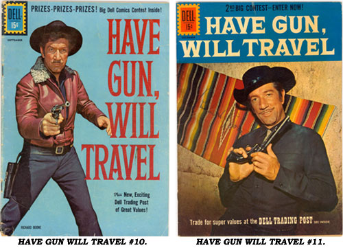 Covers to HAVE GUN WILL TRAVEL #10 and #11.