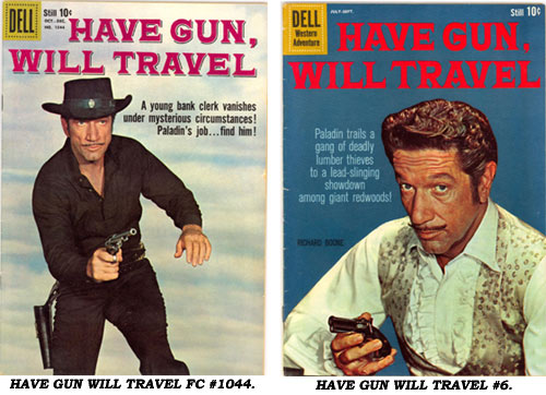 Covers to HAVE GUN WILL TRAVEL FC #1044 and #6.