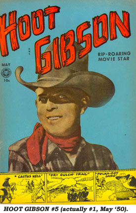 HOOT GIBSON #5 (actually #1, May '50) comic book cover.