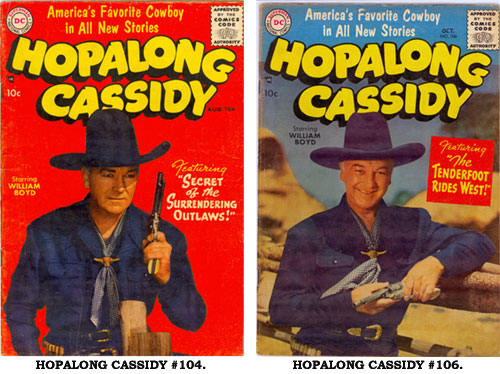 Covers to HOPALONG CASSIDY #104 and #106.