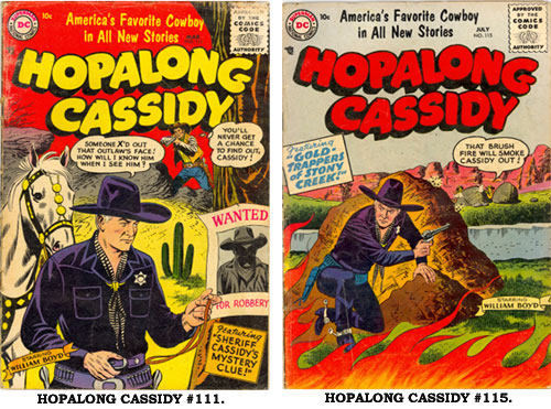 Covers to HOPALONG CASSIDY #111 and #115.