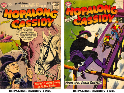 Covers to HOPALONG CASSIDY #123 and #135.