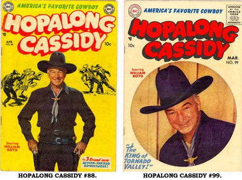 Covers to HOPALONG CASSIDY #88 and #99.