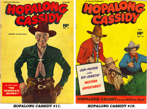 Covers to HOPALONG CASSIDY #11 and #19.