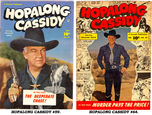 Covers to HOPALONG CASSIDY #59 and #64.