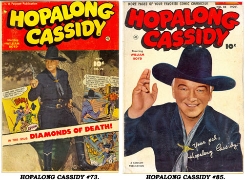 Covers to HOPALONG CASSIDY #73 and #85.