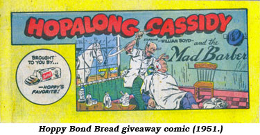 Hoppy Bond Bread giveaway comic (1951).