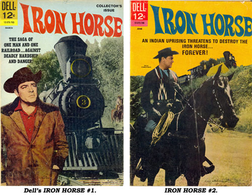 Covers to Dell's IRON HORSE #1 and IRON HORSE #2.