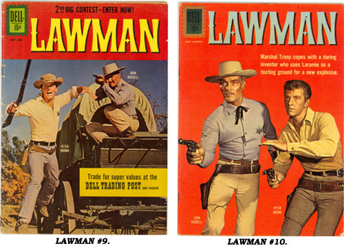 Covers to LAWMAN #9 and #10.