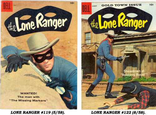 LONE RANGER #119 (5/58) and #122 (8/58).