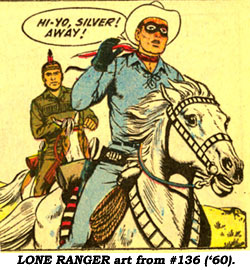 LONE RANGER art from #136 ('60).