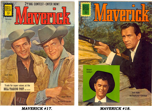 Covers to MAVERICK #17 and #18.