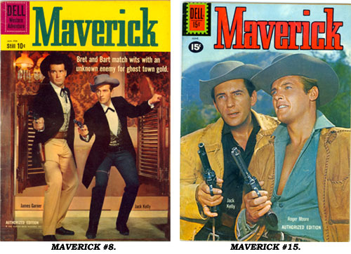 Covers to MAVERICK #8 and #15.